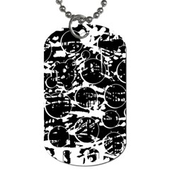 Black and white confusion Dog Tag (One Side)