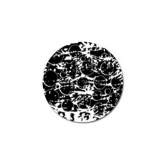 Black and white confusion Golf Ball Marker
