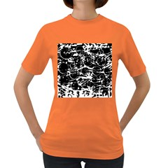 Black and white confusion Women s Dark T-Shirt