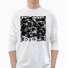 Black and white confusion White Long Sleeve T-Shirts