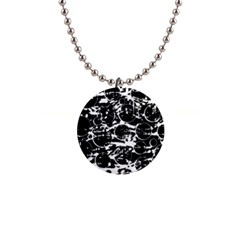 Black and white confusion Button Necklaces