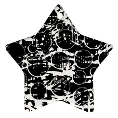 Black and white confusion Star Ornament (Two Sides)