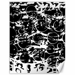 Black and white confusion Canvas 18  x 24