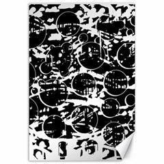 Black and white confusion Canvas 24  x 36