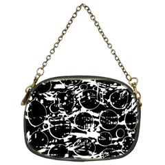 Black and white confusion Chain Purses (Two Sides)