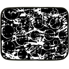 Black and white confusion Double Sided Fleece Blanket (Mini)