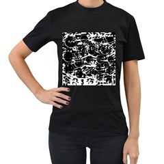 Black and white confusion Women s T-Shirt (Black)