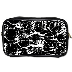 Black and white confusion Toiletries Bags