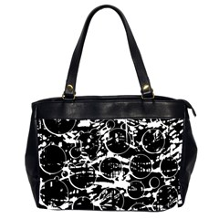 Black and white confusion Office Handbags (2 Sides)