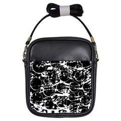 Black and white confusion Girls Sling Bags
