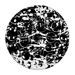 Black and white confusion Ornament (Round Filigree)