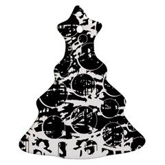 Black and white confusion Christmas Tree Ornament (2 Sides)