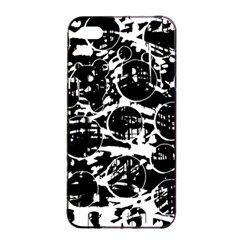 Black and white confusion Apple iPhone 4/4s Seamless Case (Black)