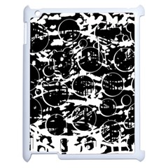 Black and white confusion Apple iPad 2 Case (White)