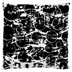 Black and white confusion Large Cushion Case (Two Sides)