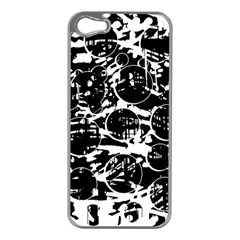 Black and white confusion Apple iPhone 5 Case (Silver)