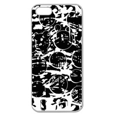 Black and white confusion Apple Seamless iPhone 5 Case (Clear)
