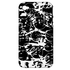 Black and white confusion Apple iPhone 4/4S Hardshell Case (PC+Silicone)