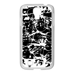 Black and white confusion Samsung GALAXY S4 I9500/ I9505 Case (White)