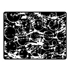 Black and white confusion Double Sided Fleece Blanket (Small)