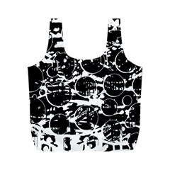 Black and white confusion Full Print Recycle Bags (M)
