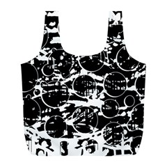 Black and white confusion Full Print Recycle Bags (L)