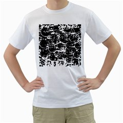 Black and white confusion Men s T-Shirt (White)