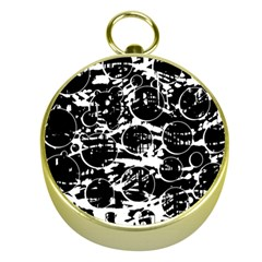 Black and white confusion Gold Compasses
