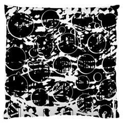 Black and white confusion Large Flano Cushion Case (One Side)