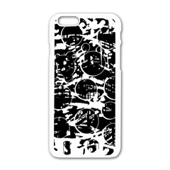Black and white confusion Apple iPhone 6/6S White Enamel Case