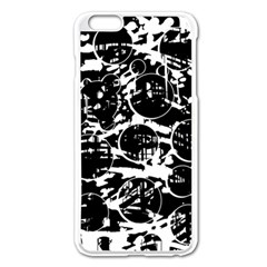 Black and white confusion Apple iPhone 6 Plus/6S Plus Enamel White Case