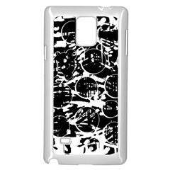 Black and white confusion Samsung Galaxy Note 4 Case (White)