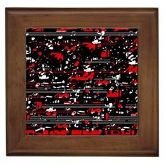 Red symphony Framed Tiles