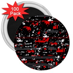 Red symphony 3  Magnets (100 pack)