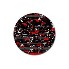 Red symphony Magnet 3  (Round)