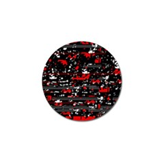 Red symphony Golf Ball Marker