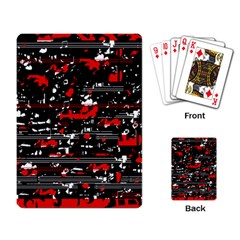Red symphony Playing Card