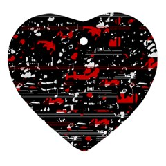 Red symphony Heart Ornament (2 Sides)