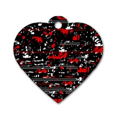 Red symphony Dog Tag Heart (One Side)