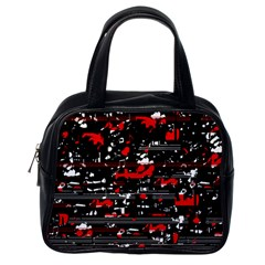 Red symphony Classic Handbags (One Side)