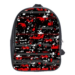 Red symphony School Bags(Large)