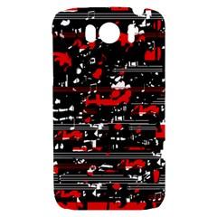 Red symphony HTC Sensation XL Hardshell Case