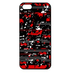 Red symphony Apple iPhone 5 Seamless Case (Black)