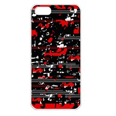 Red symphony Apple iPhone 5 Seamless Case (White)
