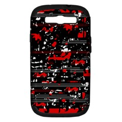 Red symphony Samsung Galaxy S III Hardshell Case (PC+Silicone)