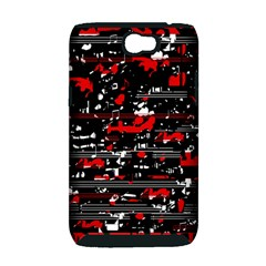 Red symphony Samsung Galaxy Note 2 Hardshell Case (PC+Silicone)