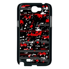 Red symphony Samsung Galaxy Note 2 Case (Black)