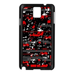 Red symphony Samsung Galaxy Note 3 N9005 Case (Black)