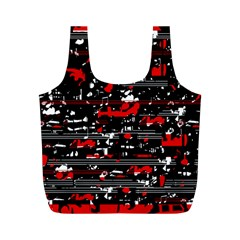 Red symphony Full Print Recycle Bags (M)