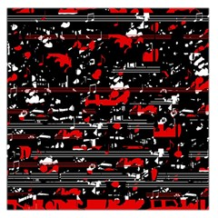 Red symphony Large Satin Scarf (Square)